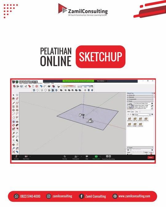 pelatihan online sketchup