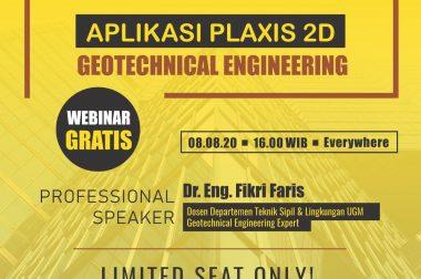 WEBINAR GRATIS APLIKASI PLAXIS 2D GEOTECHNICAL ENGINEERING